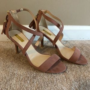 Qupid Crossover Band Ankle Strap Sandals Women's 7